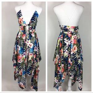 NWT Luxxel Floral Dress Medium